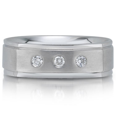 The C4660 7GWA is a diamond wedding band that is 7mm wide