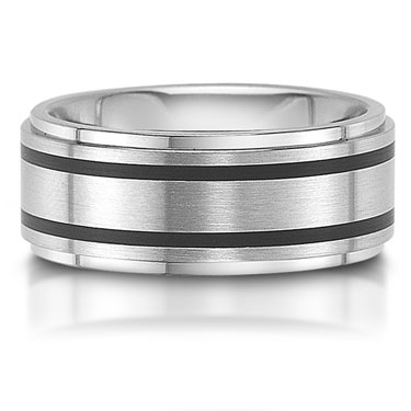 C7501/7G is a titanium wedding band that is 8mm wide.