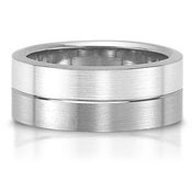 The C75601-8GG is a titanium and sterling silver combination wedding band.