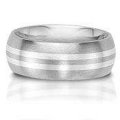 C75602-7GG - The C75602-7GG is a titanium and sterling silver combination wedding band that is 7mm w