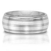C75603-8GG is a titanium and sterling silver combination wedding band.