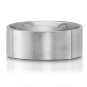 C75611-9G - The C75611-9G is a square titanium wedding band that has satin finish. This wedding band