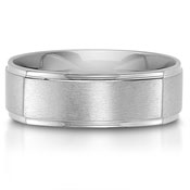 The C75612-7G is a square titanium wedding band that has a satin finished center.