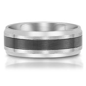 The C75700-7GSS is a stainless steel wedding band that is 7mm wide.