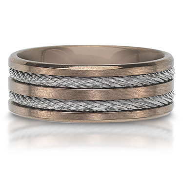 The C757018GSS is a stainless steel wedding band that is 8mm wide