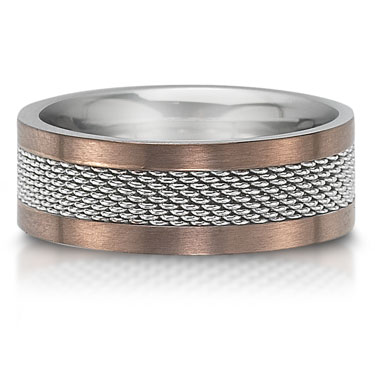 The C757028GSS is a stainless steel wedding band that is 8mm wide