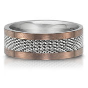 The C75702-8GSS is a stainless steel wedding band that is 8mm wide.