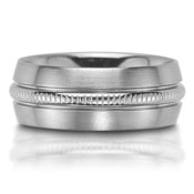 The C75707-8G is a titanium wedding band that is 8mm wide,