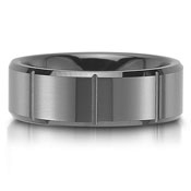 The C75801-8GC is a black cermaic wedding band that is 8mm wide.