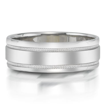 X2001/6GQP is a unique platinum-palladium combination wedding band that is 6mm wide.