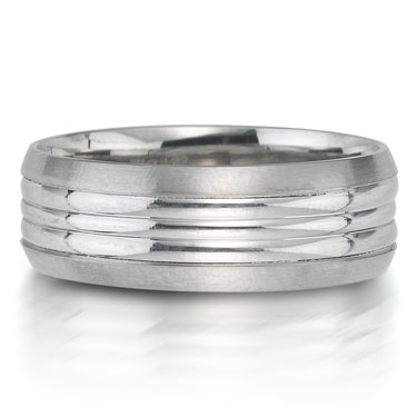 X2004-7GQP is a carved platinum-palladium combination wedding band that is 7mm wide.
