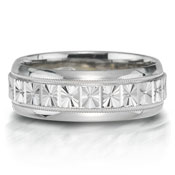 X2005-7GQP is a unique platinum-palladium combination wedding band that is 7mm wide.