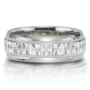 X2005-7GQP is a unique platinum-palladium combination wedding band that is 7mm wide.