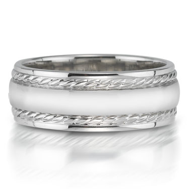 X2009-7GQP is a platinum-palladium combination wedding band that is 6mm wide.