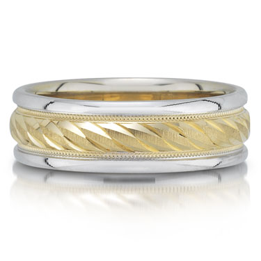 X4181/7GT is a two-tone wedding band that is 6mm wide.