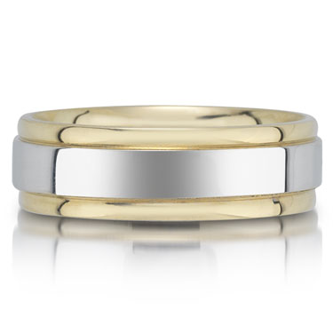 X4195/6GT is a two-tone wedding band that is 6mm wide.