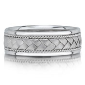 X4245/7GW is a braided wedding band that is 6mm wide.