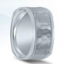 Trending Hammered Wedding Band N03511 by Novell