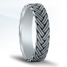 Men's Carved Wedding Band NBR10287