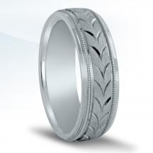 Men's Carved Wedding Band N16553