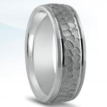 Men's Carved Wedding Band N16582