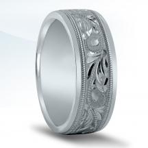 Engraved Men's Wedding Band N16600
