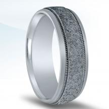 Men's Carved Wedding Band N16625