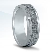 Men's Carved Wedding Band - N16673