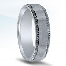 Men's Carved Wedding Band N16709
