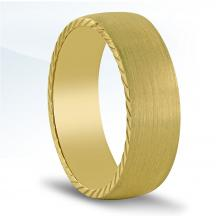 Men's Carved Wedding Band - N16730