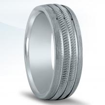 Men's Carved Wedding Band N16946