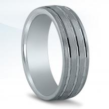 Men's Carved Wedding Band N16957