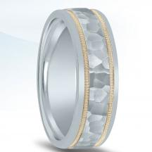 Colors Collection Hammered Wedding Band NT01082 by Novell