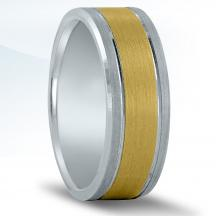 Men's Two-tone Wedding Band NT16546