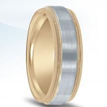 Men's Two-tone Wedding Band NT16590 by Novell