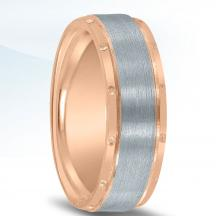 Colors Collection Two Tone Wedding Band NT16701 by Novell