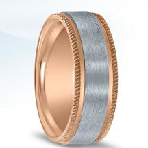 Colors Collection Two Tone Wedding Band NT16707 by Novell