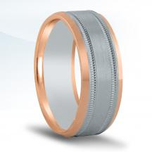 Men's Two-tone Wedding Band NT16993