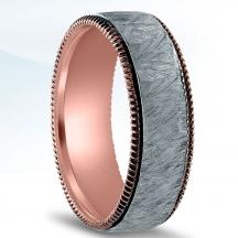 Men's Two-Tone Wedding Band - NT17087