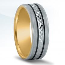 Men's Carved Wedding Band - XNT16981