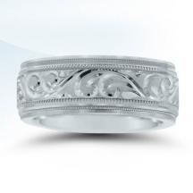 Engraved Men's Wedding Band - N16601