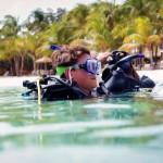Scuba diving at Harbour Village in Bonaire.
