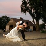 Carson Valley wedding kiss