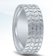Titanium Tire Tread Wedding Band ALTROM-TR32-8-TI
