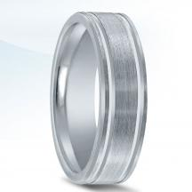 Classic Men's Wedding Band - N01016 with Bright Grooves