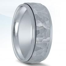 Classic Hammered and Milgrain Wedding Band N01092