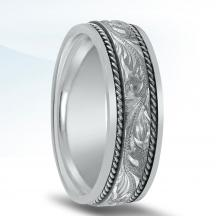 Engraved Men's Wedding Band - N01707