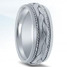 Hand Braided Wedding Band N03074