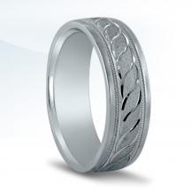 Men's Carved Wedding Band N16533