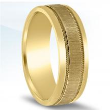 Men's Carved Wedding Band - N16565